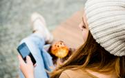 teenager with a muffin