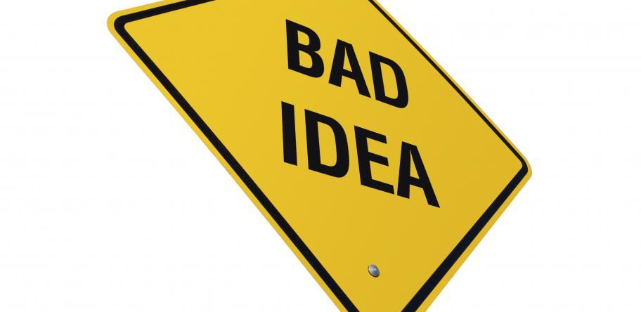 bad idea concept